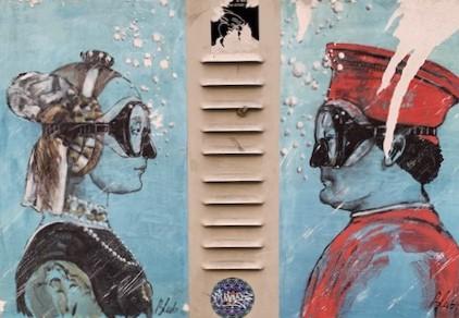 Dante e Beatrice a Ravenna murales